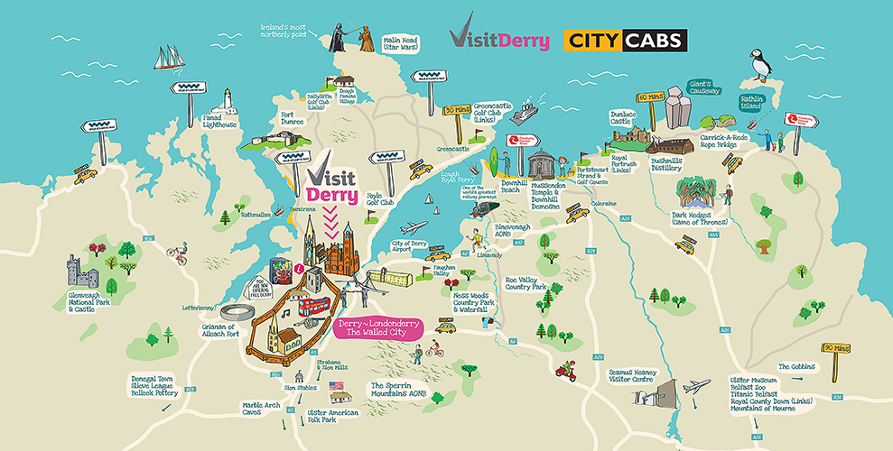City of Derry Airport Map « Big Fish Design & Advertising